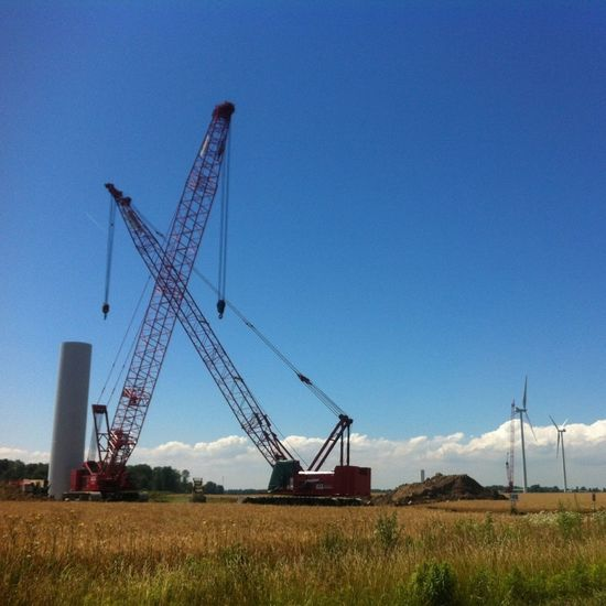 Wind turbines under construction near Port Dover Ontario Wind Turbine Eye4photography  Cool