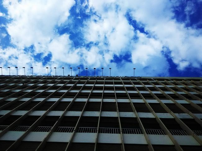 Malaysia is my country Low Angle View Blue Sky Cloud In A Row Day Outdoors Cloud - Sky Hospital Eye4photography  EyeEm Best Shots EyeEmBestPics Skywatchers Eyemalaysia EyeEmMalaysia Redmi1s Malaysia Eyemphotography EyeEm Gallery Beauty In Nature Hanging Out Hello World