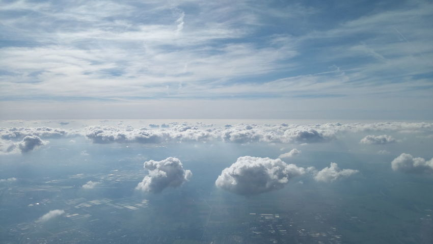 Cloud - Sky Nature Beauty In Nature Tranquility Flying Clouds & Sky Clouds Lovers Skylovers Clouds Cloudsandsky Clouds And Sky Sky And Clouds Aerial Shot Aerialphotography Aerial Photography Clouds In The Sky Sky Aerial View Blue Space Planet Earth Nature