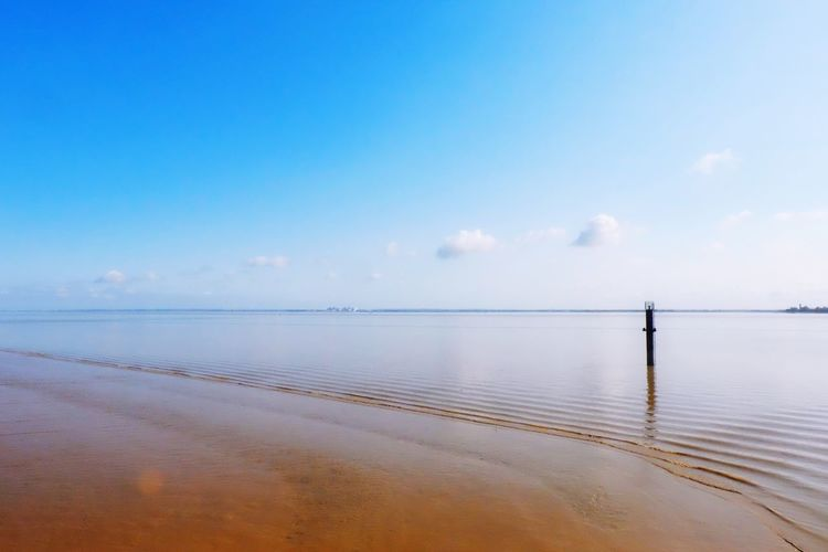 Peaceful view Water Sea Tranquil Scene Horizon Over Water Tranquility Sky Blue Scenics Beach Reflection Cloud Sand Beauty In Nature Calm Nature Seascape Shore Day Non-urban Scene Coastline