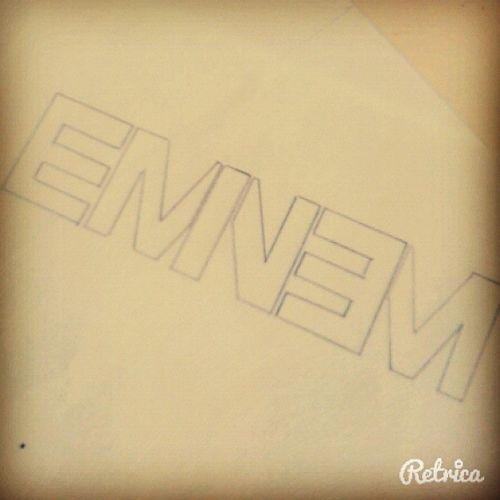 EMINEM Logo Eminem Eminemlogo Draw Art slimshady like like4follow retrica picoftheday
