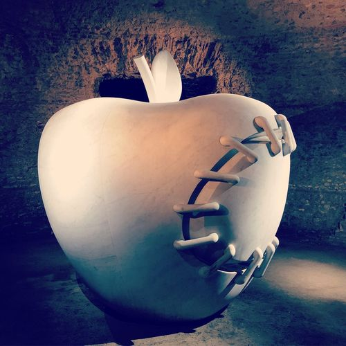 When you try to fix Apple Italy Rome Terme Caracalla Fix  Apple Representation Creativity No People Sculpture Arts Culture And Entertainment White Color First Eyeem Photo