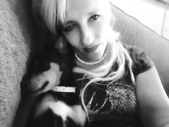 me and my baby girll Chipin Doggy Love love yourself Love Dogs Woman Portrait Blackandwhite Light And Shadow Lighting Human Face Minpin Chihuahua Deep Thoughts~ Portrait Looking At Camera Beauty Young Women Beautiful Woman Close-up My Best Photo 17.62°