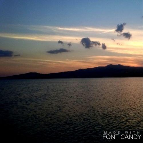 Yesterdays sunset Sunset Turkey Comesee Sea Air Smells Salt Peace Happy Blue Orange Dark Clouds 🌄