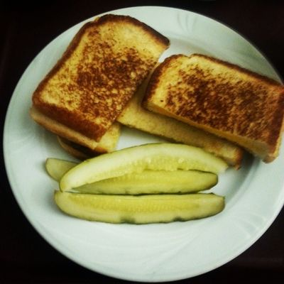 "Having grilled cheese sandwiches and quartered pickled cucumbers for dinner. ""Instafood ""food ""instadinner ""instapic "" Instagram"