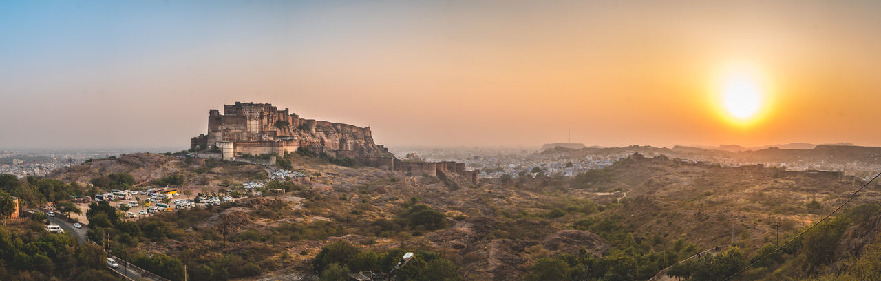 Dusk Fort A7s Sonyalpha Sonyimages Netgeotravel NETGEO Traveladdict TravelPhotographer Travelmoments Rajasthan Jodhpur Picturesque Wonderfulearth Eyewanderwin Mehrangarhfort Panorama Panoramic Landscape No People An Eye For Travel The Traveler - 2018 EyeEm Awards