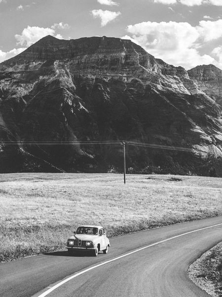 Few days spent in Waterton Lakes National Park of Alberta. One of my favourite park in Canada, even more beautiful under the fall's colours. Alberta Autumn Nature Waterton Lakes National Park Waterton National Park Adventure Black And White Blackandwhite Bnw Canada Car Fall Legacy Mode Of Transportation Motor Vehicle Mountain Nature Old Outdoors Road Roadtrip Scenics - Nature Transportation Travel Vintage