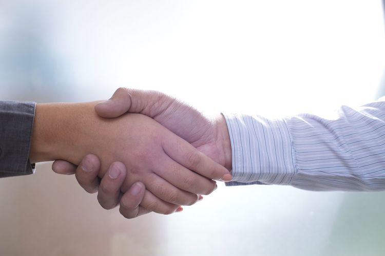 Close-Up Of Business People Doing Handshake