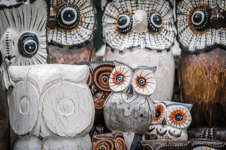 Close-up of objects for sale in market