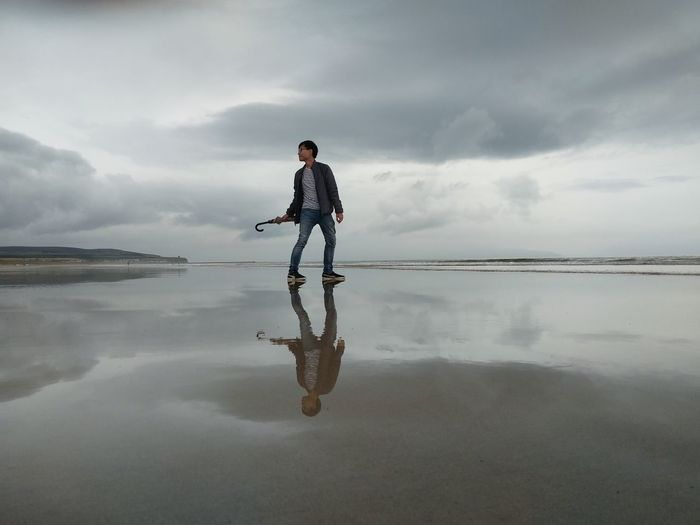 reflection Ireland Northern Ireland Travel Sea Full Length Men Water Lake Portrait Challenge Sportsman Occupation Business Balance Foggy Water Surface