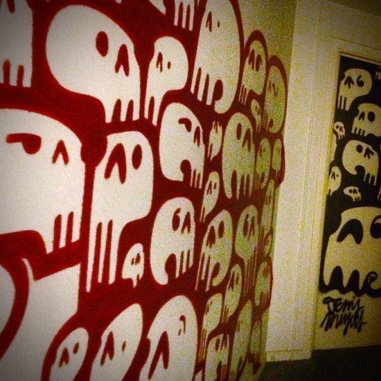 Denismeyers Remembersouvenir Solvay Graffiti Brussels Streetart/graffiti Tetedemort Couleurs Rouge Blackandwhite