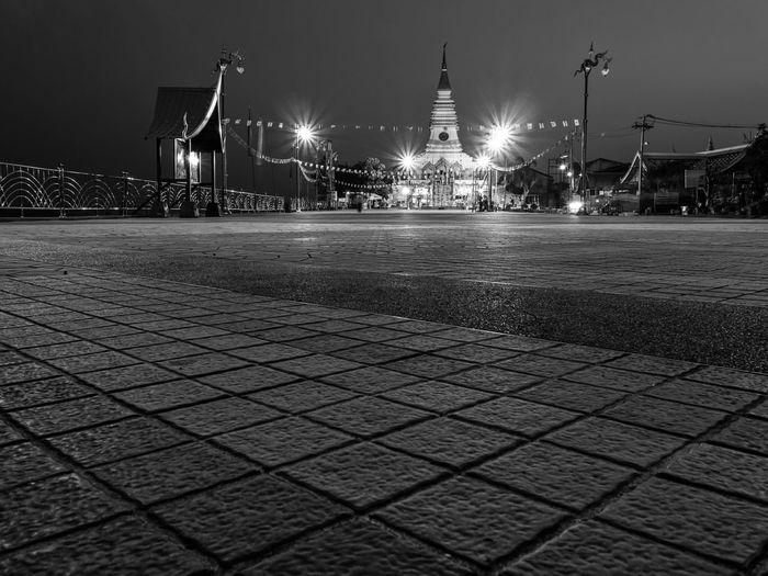 Nong Khai, Thailand EyeEmNewHere Architecture Blackandwhite City Illuminated Night No People Outdoors Street Street Light