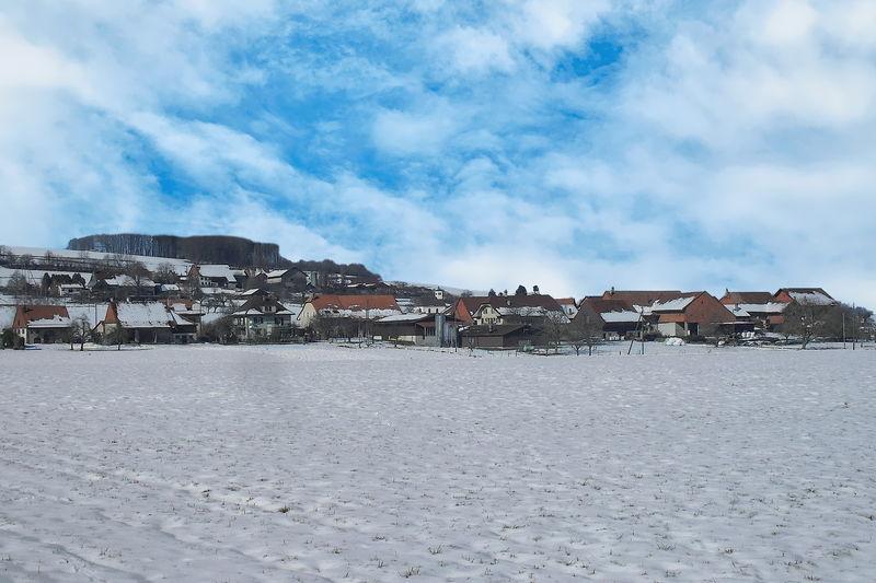Winter scene in