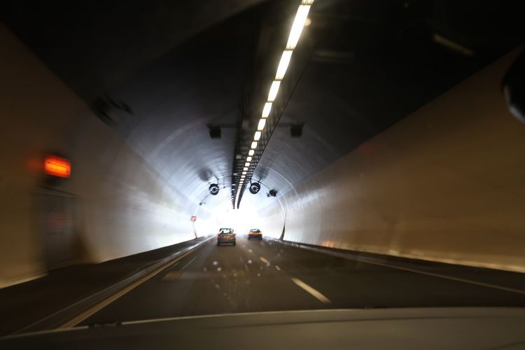 Transportation Illuminated Vehicle Interior Tunnel The Way Forward Diminishing Perspective Mobility In Mega Cities Car Travel Mode Of Transport Indoors  Land Vehicle Road Built Structure No People Day