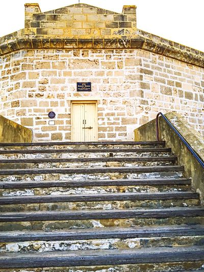 Round House: Steps into Limestone Heritage Historic Tourist Destination Tourist Attraction  The Round House Travel Destinations Arthur's Head Entrance Tourism Fremantle, Western Australia Limestone Architecture Limestone Round House Architecture Building