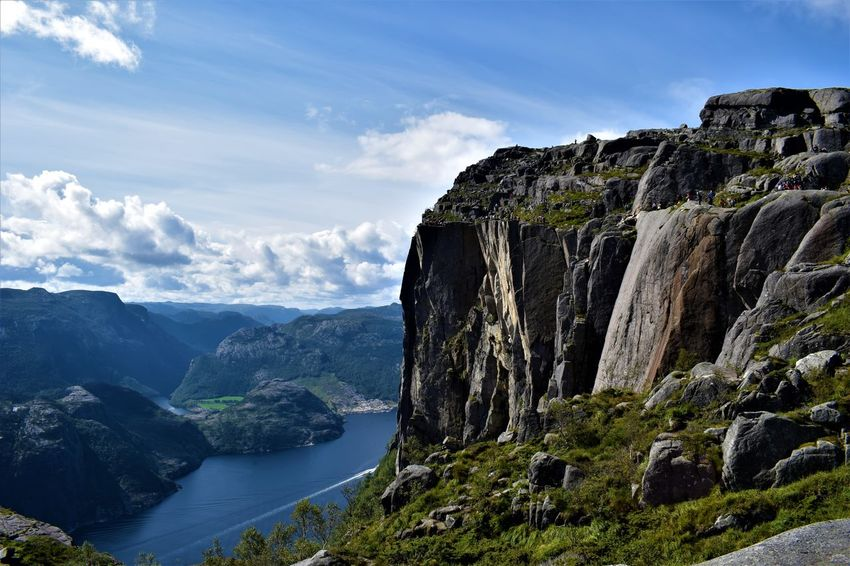 Hiking Lakeview Lysefjord Norway Preikestolen Pulpit Rock Scandinavia Stavanger Beauty In Nature Cliff Clouds Ferry Boat Fjord Hiking Trail Hikingadventures Lake Landscape Mountain Nature No People Outdoors Rock Formation Sun Travel Destinations Water