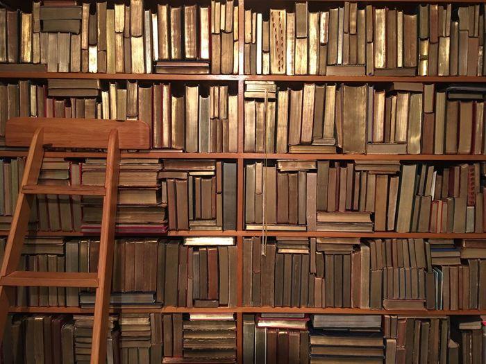 A well stocked bookshelf