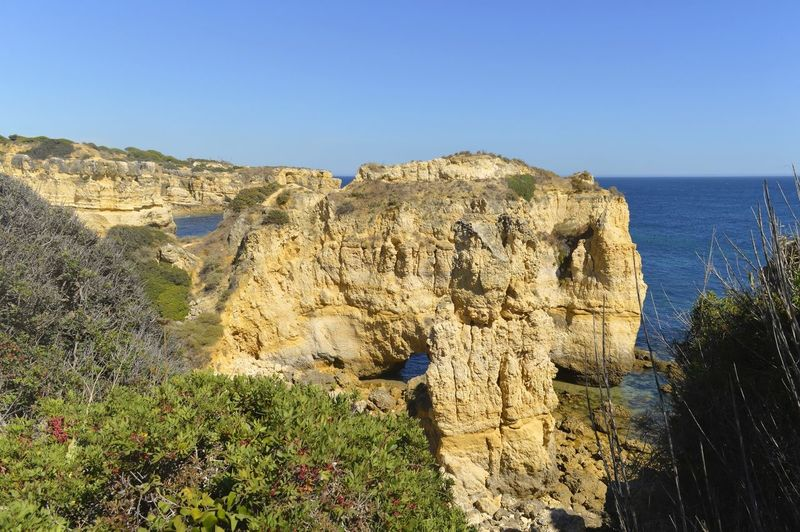 Scenic View Of Sea Against Sky At Algarve