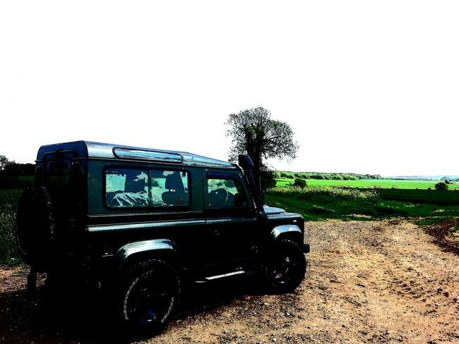 Landy Land Rover Defender Defender90 XS Stationwagon 4x4 Green Fields