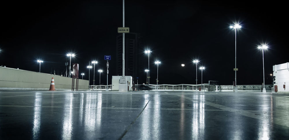 Empty parking lot Parking Lot Parking Mall Long Exposure Nightphotography Night Night Lights Lights