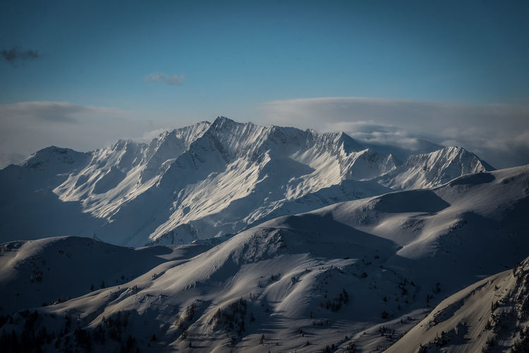 Mountain Cold Temperature Winter Sky Snow Scenics - Nature Beauty In Nature Tranquil Scene Tranquility Snowcapped Mountain Mountain Range Non-urban Scene Environment Landscape Cloud - Sky Nature No People Covering Day Mountain Peak Mountain Ridge