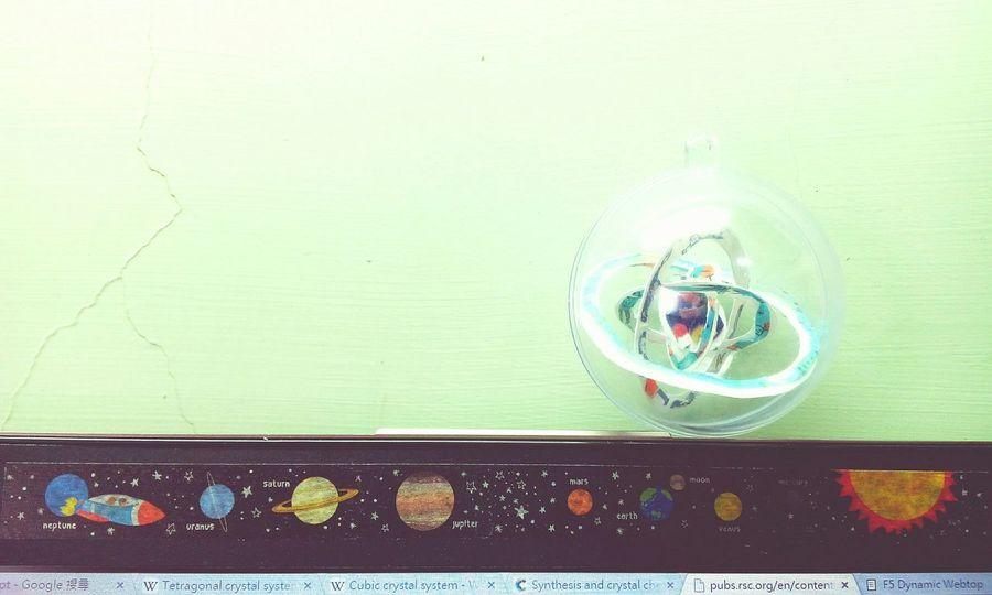 Little Masking Tape Universe on my Laptop / Balancing Act