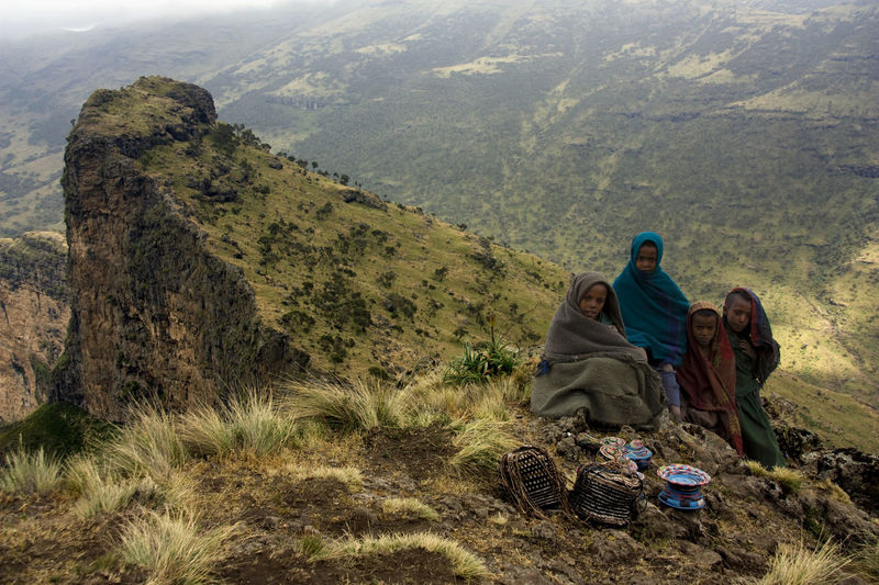 Hiking in the Simien mouintains Adventure Africa Beauty In Nature Day Ethiopia Hiking Landscape Lifestyles Mountain Range Nature Outdoors Remote Rock Rock Formation Simien Mountains Tranquility Vacations Valley