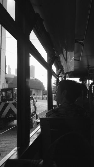 What last is past HongKong Transportation Land Vehicle Real People One Person People Indoors  Day Memories Travel
