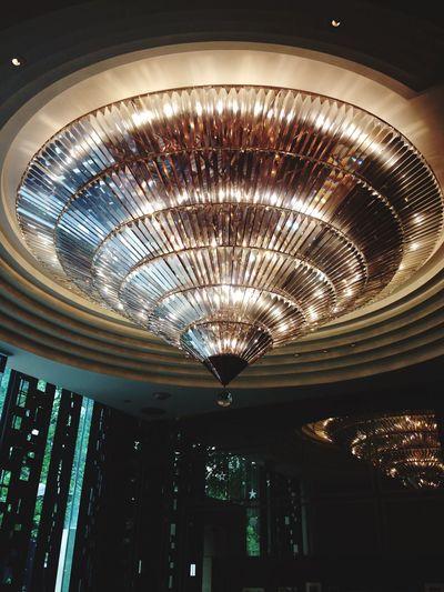 St Regisbangkok Italianrestaurant Illuminated Low Angle View Lighting Equipment Ceiling Decoration Indoors  Night Chandelier Electric Light Luxury Hanging Light