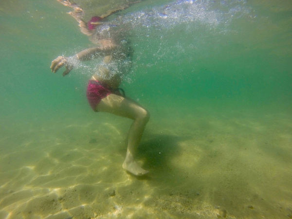 A woman swims near a semi virgin beach. Pichilinguillo Day Full Length Lifestyles Low Section Motion Nature One Person Outdoors People Real People Sea Swimming UnderSea Underwater Water Young Adult Young Women An Eye For Travel