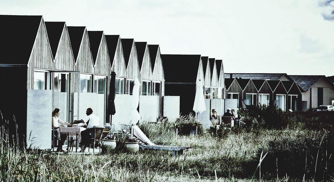 Neighborhood Hanging Out Having Breakfast Summer In Denmark