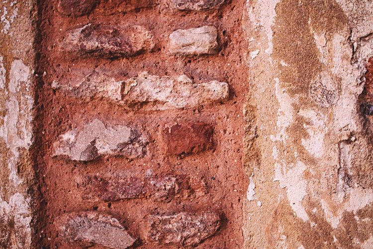 Brick work from Bishops Palace in Wells Ochre Color Ochre Brick Work Brick Wall Brick Textures And Surfaces Texture Backgrounds Ancient Building Exterior Macro Textured Effect Weathered Solid Close-up No People Outdoors Day City Time