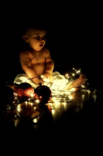 boy christmas Beautiful Christmas Lights Christmastime One Person