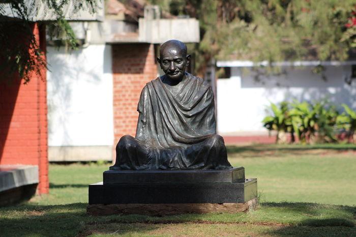 Gandhi Ashram Gandhiji Mahatma Sculpture Spirituality Statue non violence gandhi