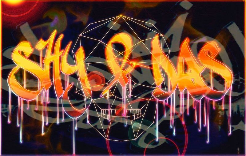 Grafitti Graffiti Art Digital Painting Painting For A Friend Colour Burst Skull Drip Spraypaint