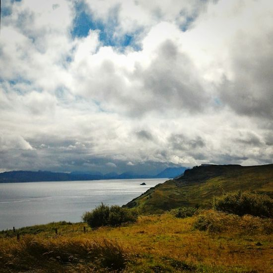What a wonderful view on Skye Landscape Cloud - Sky Outdoors Travel Destinations Tranquility Nature Beauty In Nature Sea Scotlandlover Scotlandpassion Scottish Landscape Cloud And Sky Skyeisland