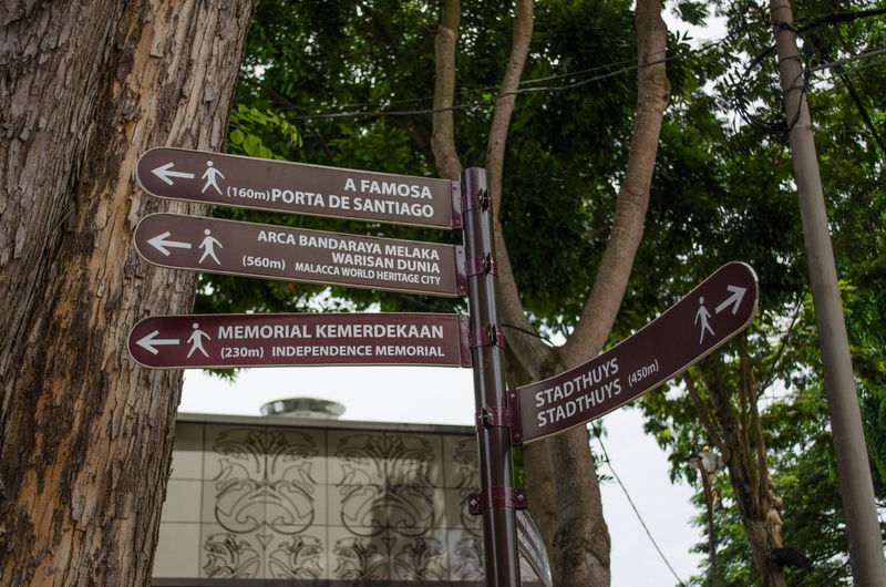 Signboard that show historical place Historical Place History Low Angle View Malacca Malaysia No People Outdoors Place Signboard Signboard Street Name Sign