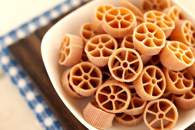 Pepper Rotelle pasta. Dry Italian pasta. Italian Pasta Noodles Classic Food Close-up Dry Pasta Food Food And Drink High Angle View Italian Food No People Pasta Pepper Pasta Rotelle Rotelle Pasta Still Life Table Traditional Food