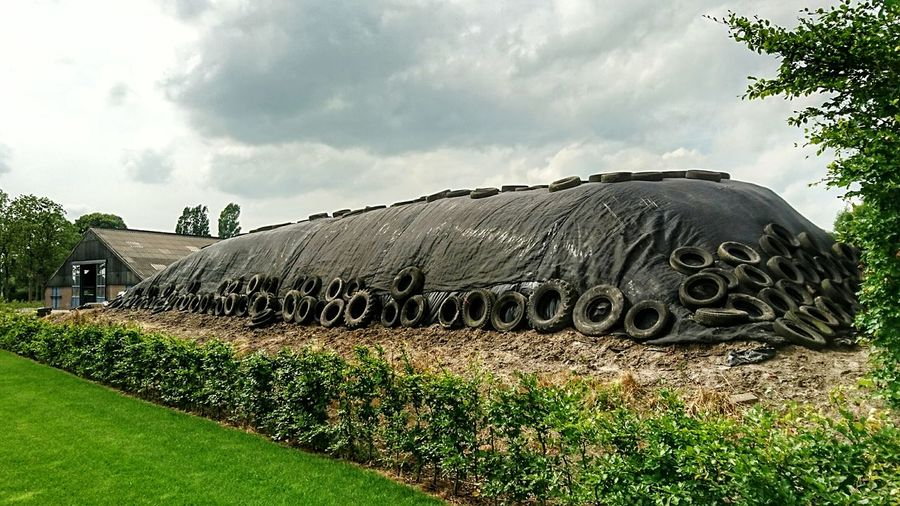 Countryside Silage Stable Black Hill in Landscape_photography