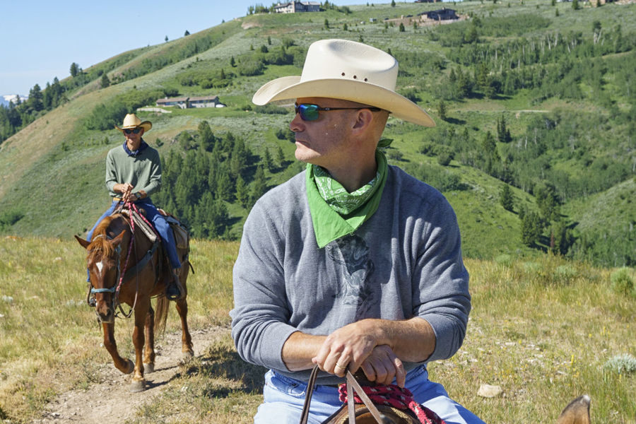 Cowboy Cowboy Hat Freedom Horse Horseback Riding Mature Men Mountains Outdoors Real People Riding Trail
