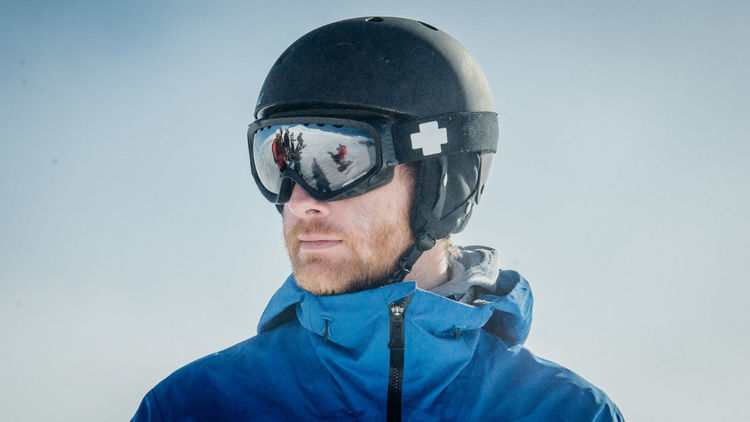 Close-up Confidence  Front View Glasses Head And Shoulders Laax Outdoor Photography Outdoors Portrait Reflection Serious Showcase: February Skiing Snow ❄ Snowboarding Sport Winter Young Men