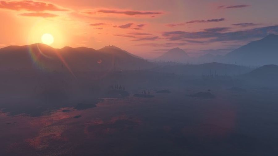 sunsets and mountains GTA V GTAV Gta5