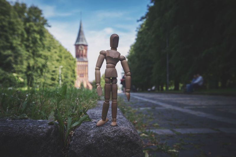 Figurine On Road