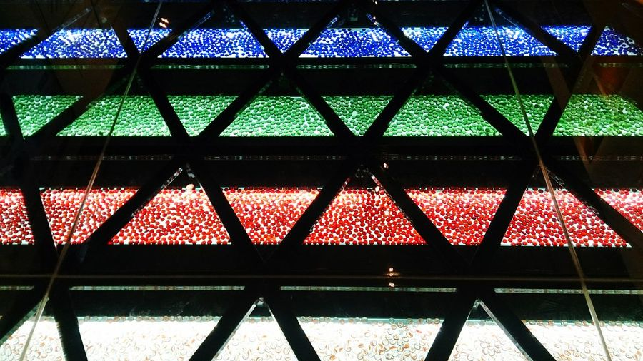 Colors Crystal Abstract Pattern Protection Metal Chainlink Fence Close-up Abstract Backgrounds Color Gradient