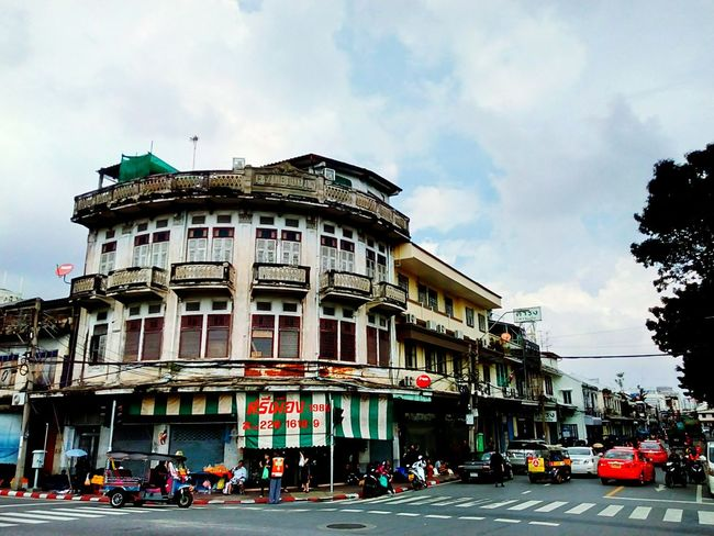 Building Commercial Building Old Building  Built Structure Architecture Building Exterior Building Collection Building Colors Building Photography View Landscape Building View Building Landscape Perspective Perspective View In Town People Texi Tricycle