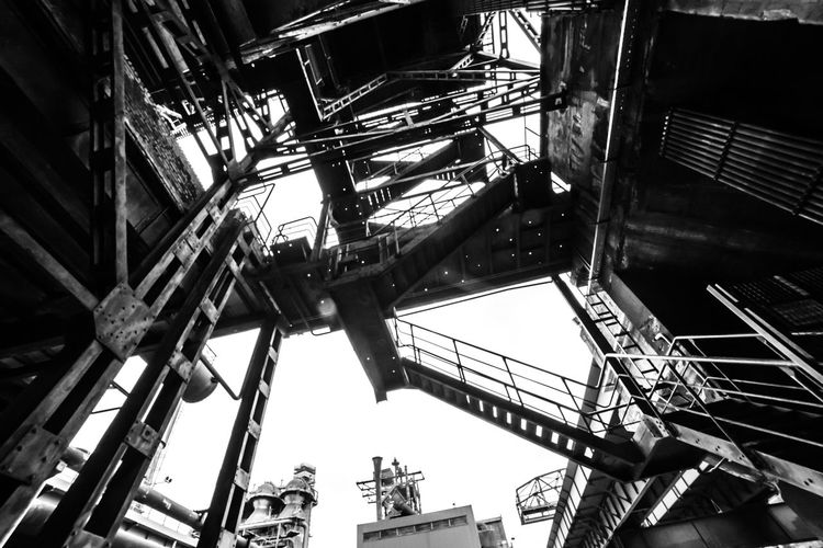 Urbex - 32 Low Angle View Architecture Built Structure Metal Industry No People Day Indoors  Machinery Old Nature Abandoned Ceiling Hanging Factory Construction Industry Arts Culture And Entertainment History