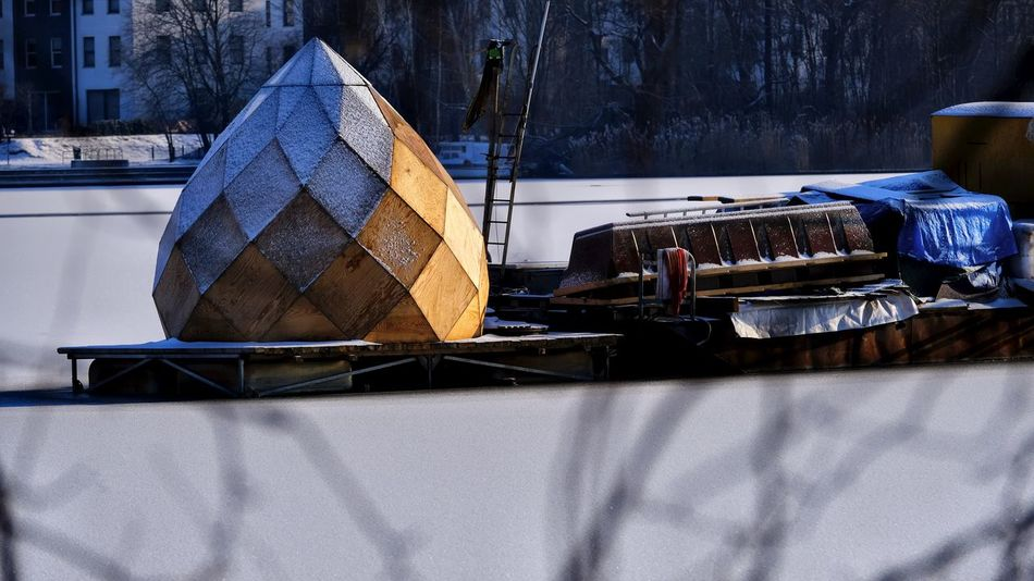 Ice Rummelsburger Bucht Snow ❄ Winter Berliner Ansichten Close-up Day Nautical Vessel No People On The Lake Outdoors Tiny House  Transportation