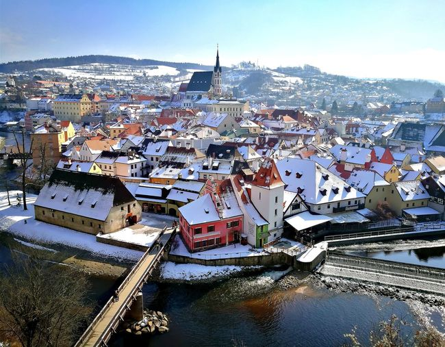 nice wiew Tale  Wiew Is Incredible Historic Sky Snow Covered Cold Temperature Winter