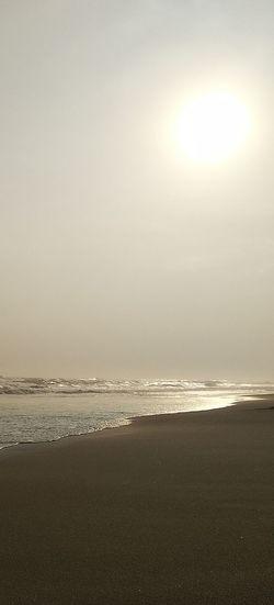 Before Sunset Coming Pantai Laut Air Asin Water Sea Beach Sand Sunlight Fog Sky Horizon Over Water Landscape Low Tide Salt Basin Shining Sun Seascape Sunset Dramatic Sky View Into Land Reflection Lake Salt Flat