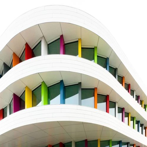 🌈 Rainbow building Minimalism Architecture architecture Built Structure Building Exterior Multi Colored No People Outdoors Day Rainbow Building Minimalist Architecture